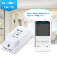 sonoff th16 th10 smart wifi switch temperature humidity wireless home automation kit with waterproof ds18b20 temperature sensor [ 1000 x 1000 Pixel ]