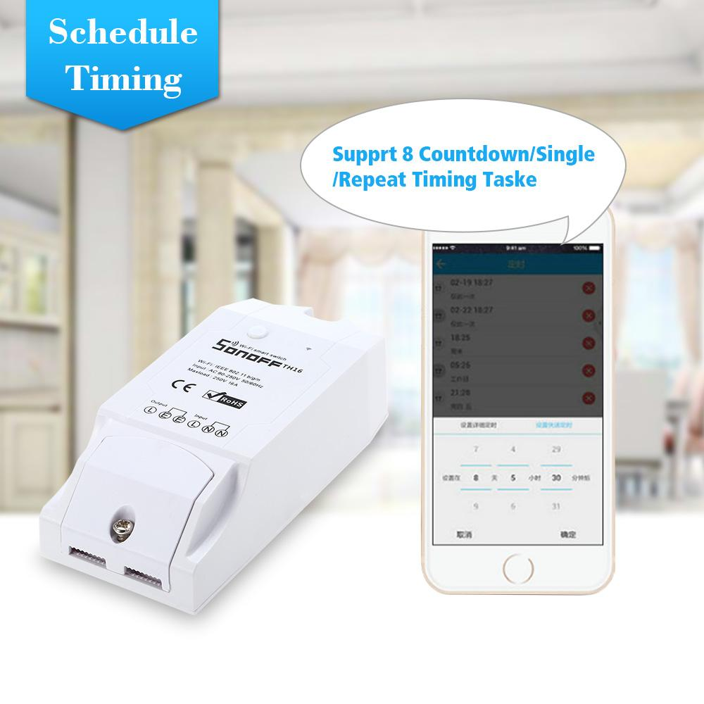 medium resolution of sonoff th16 th10 smart wifi switch temperature humidity wireless home automation kit with waterproof ds18b20 temperature sensor