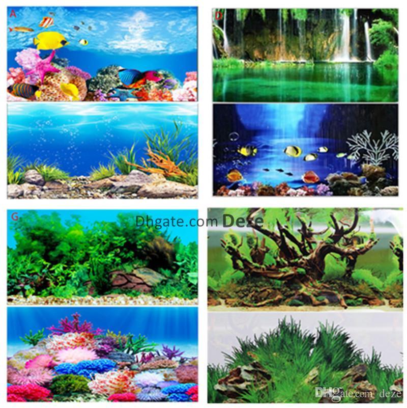 grosshandel grosshandel 1 rolle 30 cm hohe 15 meter lange glanzende aquarium hintergrund poster doppelseitige aquarium dekorative wand hintergrund bild