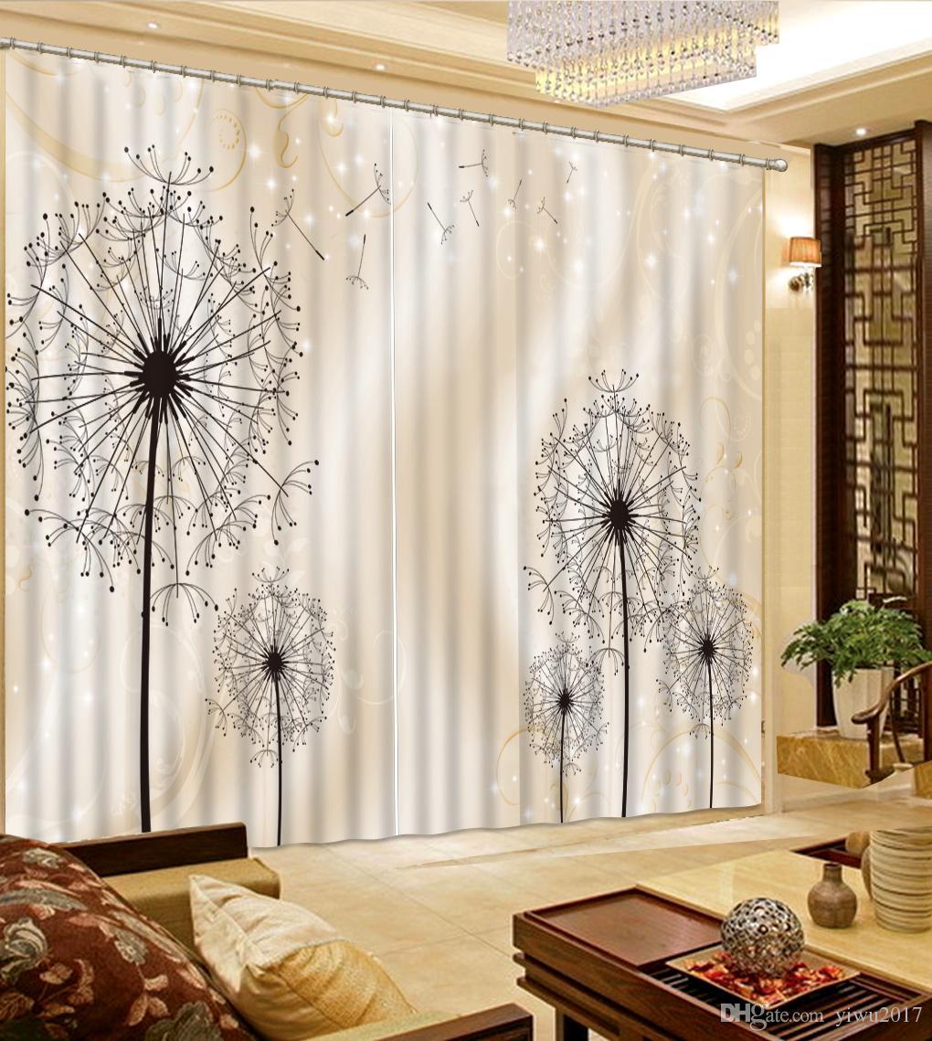 acheter rideau doccultation rideaux de pissenlit pour la piece de vie chambre dressing window 100 blackout de 173 06 du yiwu2017 fr dhgate com