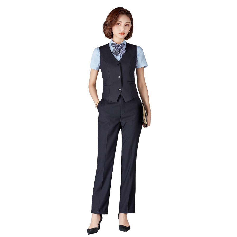 2020 Women Pants Suits Business Formal Uniform Suits With Pants Vest Office Ladies Uniform Business Formal Office Clothes Pantsuits From Viviant 57 92 Dhgate Com