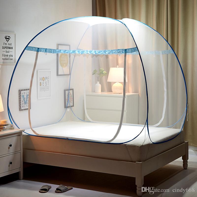 acheter moustiquaire pliante portable yourte mongole inserer maille lit adulte canopy enfants moustiquaire bleu tente de lit pliable klamboe filets de