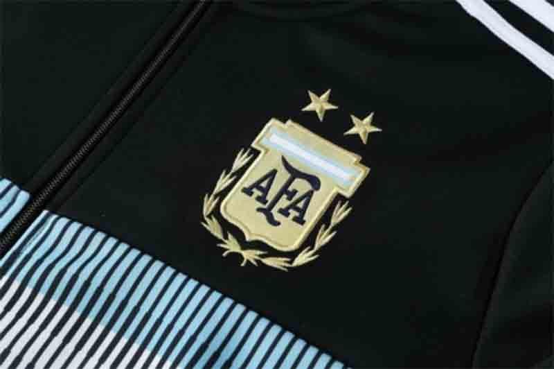grosshandel 2018 argentinien training trainingsanzug herren 18 19 argentinien fussball jacke anzug set fussball trainingsanzug schwarze hose sportwear