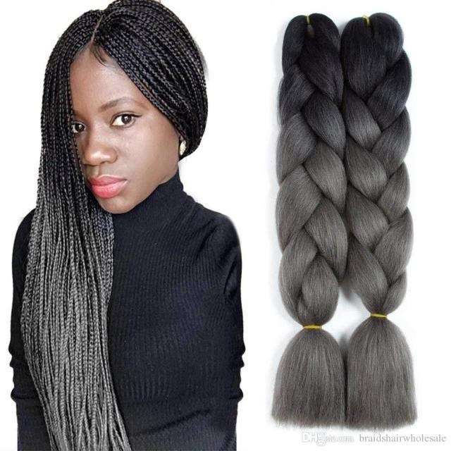 100% kanekalon jumbo braiding hair extensions kanekalon 48inch 100g/pack african hair braiding synthetic crochet braids hairstyles human hair braiding