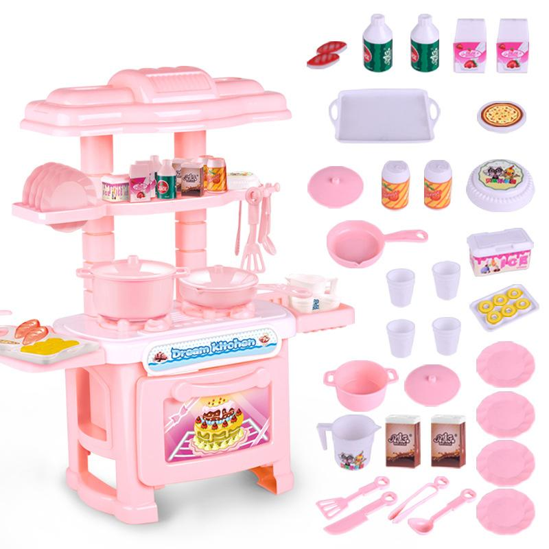 2020 Kids Kitchen Set Children Kitchen Toys Large Cooking Simulation Model Colourful Play Educational Toy For Girl Baby New From Beasy 16 92 Dhgate Com