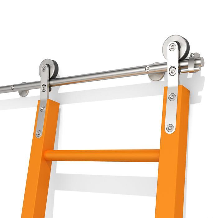 acheter materiel ladder bibliotheque coulissante en acier inoxydable coulissante grange ladder bibliotheque hardware ladder set kit complet track de