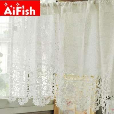 acheter mode blanc dentelle hydrotropique coton tissu cafe rideau eau soluble dentelle fenetre traits cuisine panneaux decor dy041 5 de 22 32 du
