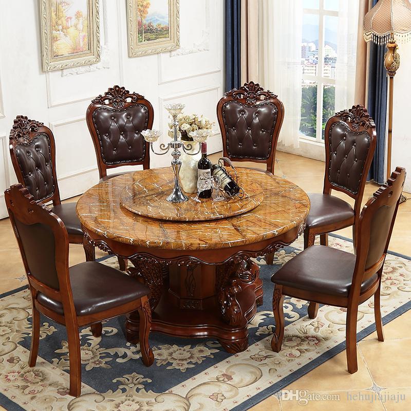 acheter sculpture dart cadre en bois massif table ronde en marbre avec table tournante en bois massif rond moderne minimaliste petite table a manger
