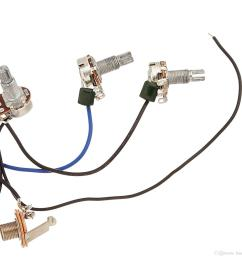 wiring harness prewired 2v2t 3way toggle switch jack 500k pots for replacement guitar 1 set [ 1500 x 1500 Pixel ]