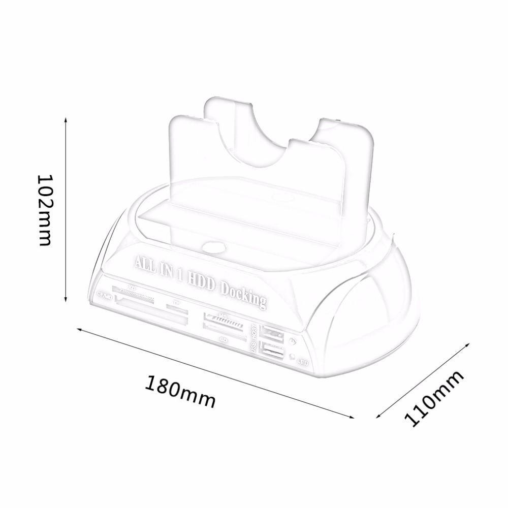 2020 Multifunctional HDD Docking Station Dual USB 2.0 2.5