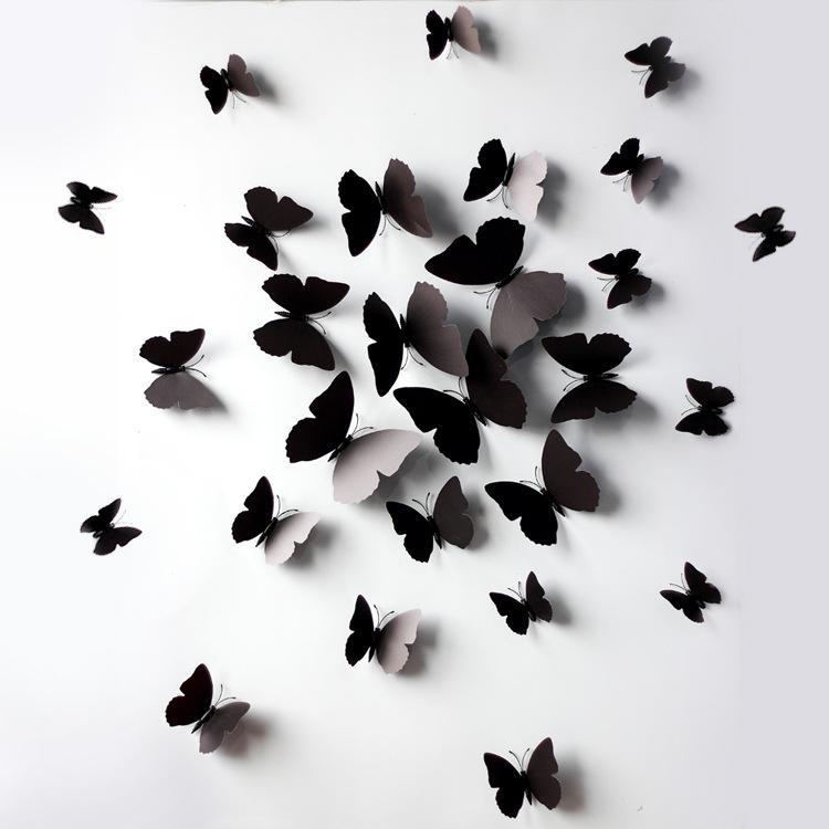 acheter papillon noir simulation de papillon refrigerateur aimant refrigerateur aimants muraux autocollants ou decoration de rideau avec haute qualite
