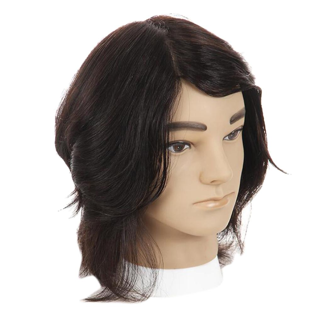 Cosmetology Male Mannequin Head With Real Human Hair For