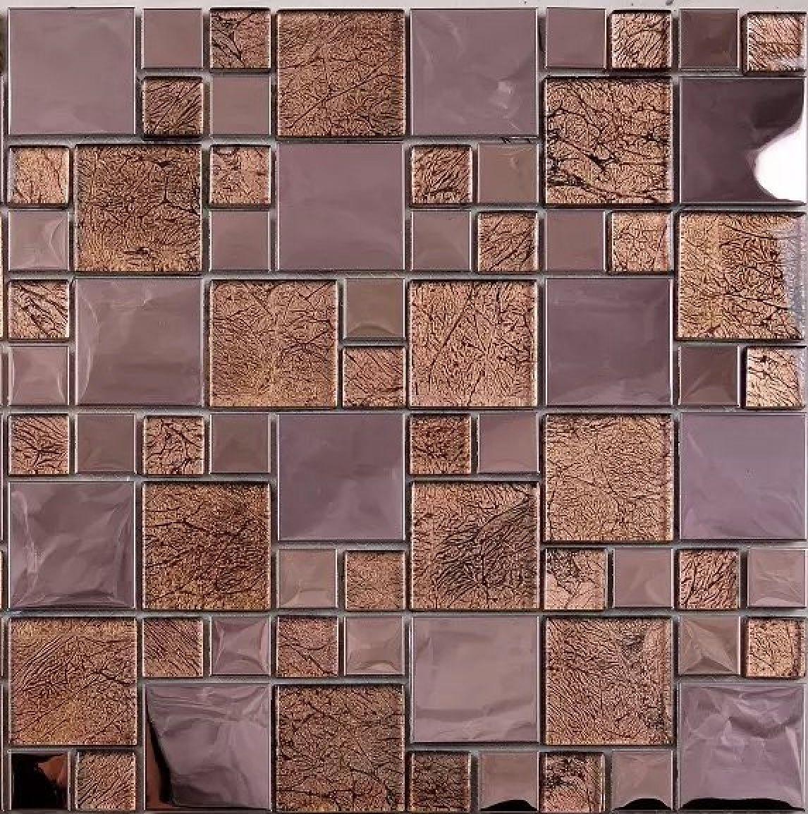 2021 rose gold metal glass mosaic tile