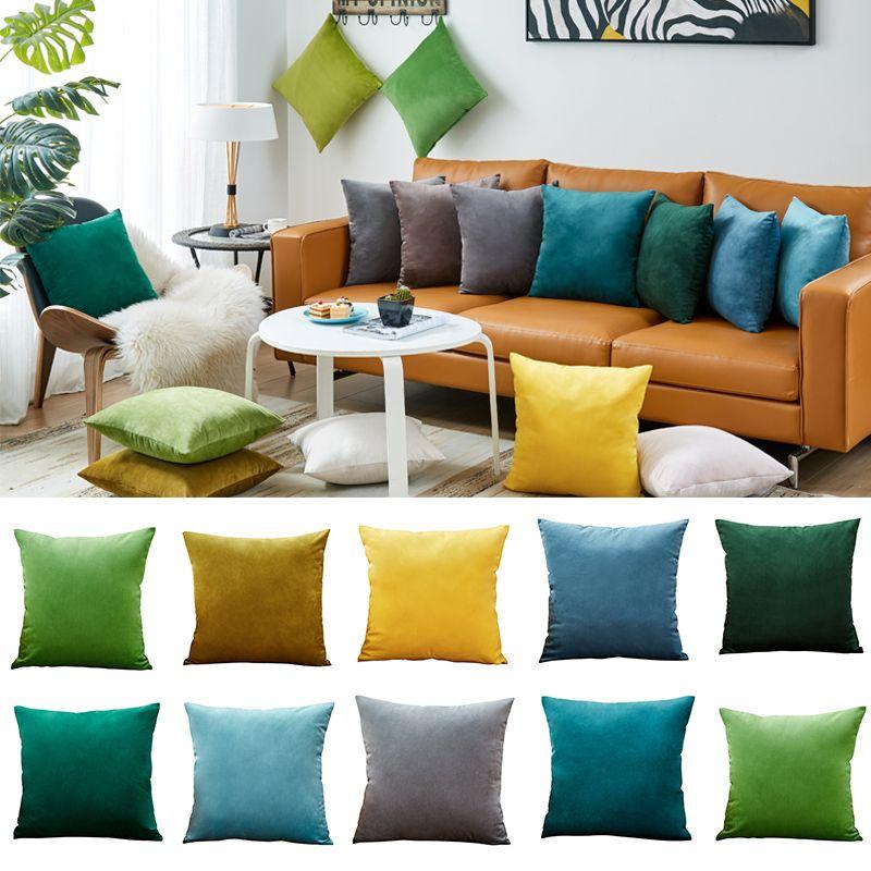 acheter taie doreiller velvet housse de coussin pour salon canape 45 45 kussenhoes bleu decoratif a la maison housse de coussin de 18 22 du hilery