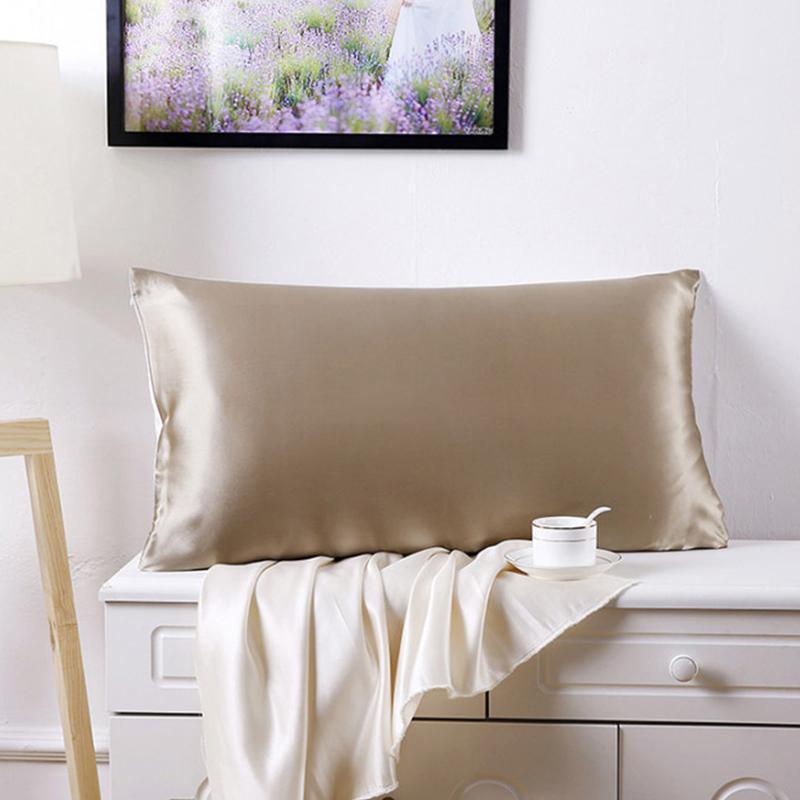 silk satin pillow cover queen king