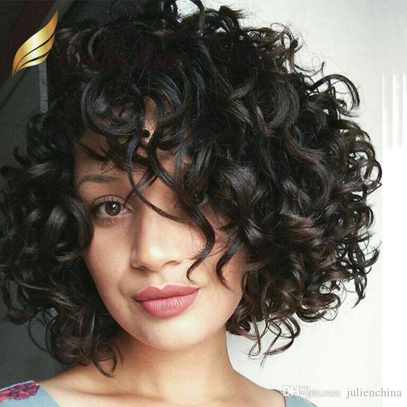 Cheap Big Curly Lace Wig Human Hair Natural Black Loose Curly Hair