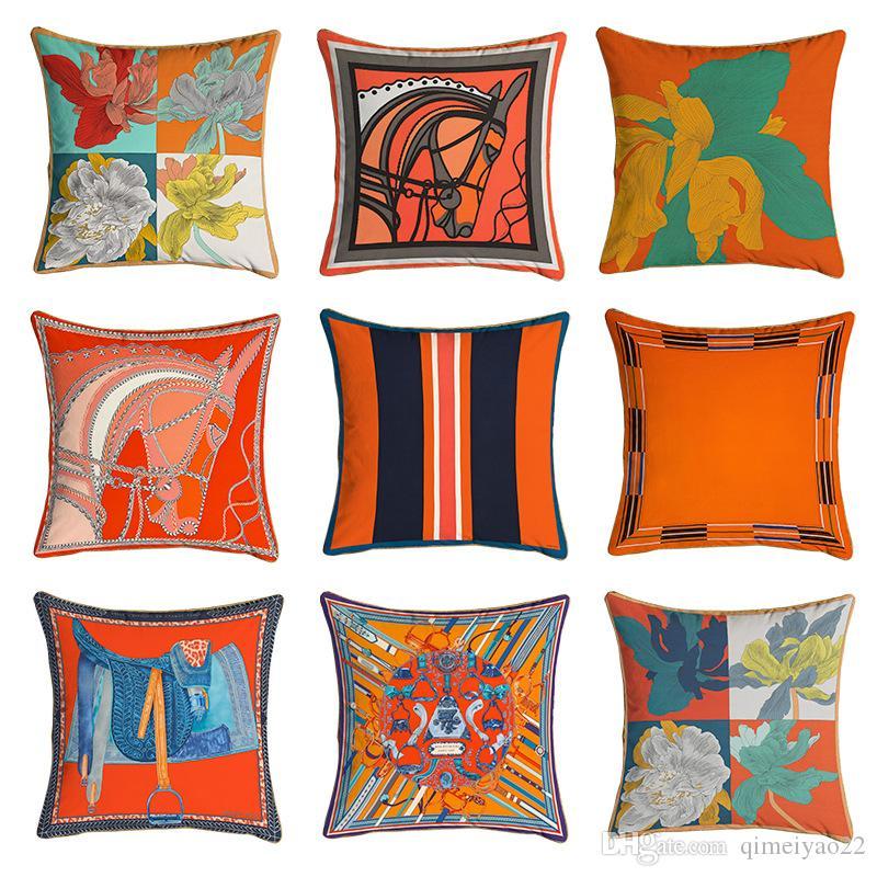 cheap 45 45cm orange series cushion