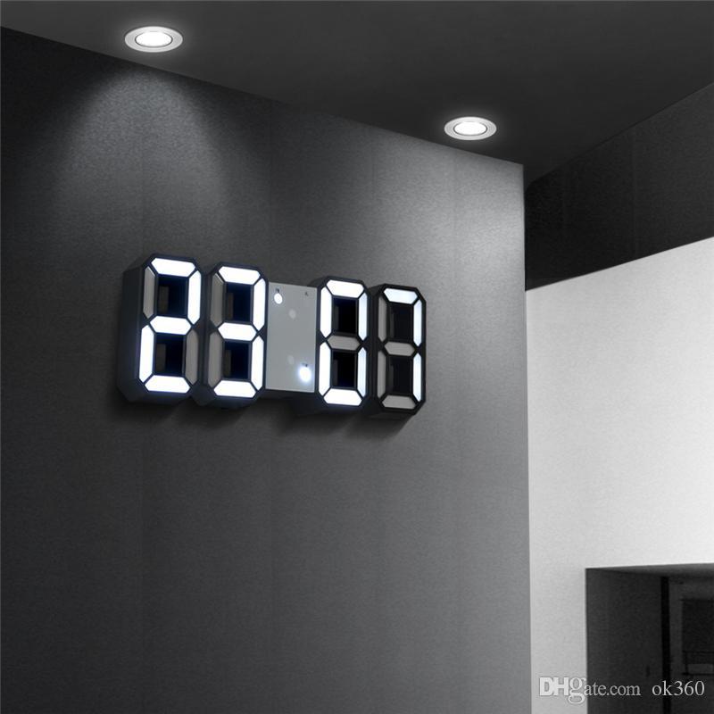 Acheter 3d Led Horloge Numerique Snooze Chambre Bureau Reveil Horloges Suspendues Horloge Murale 12 24 Heure Calendrier Thermometre Decor A La Maison Cadeau De 9 94 Du Ok360 Dhgate Com