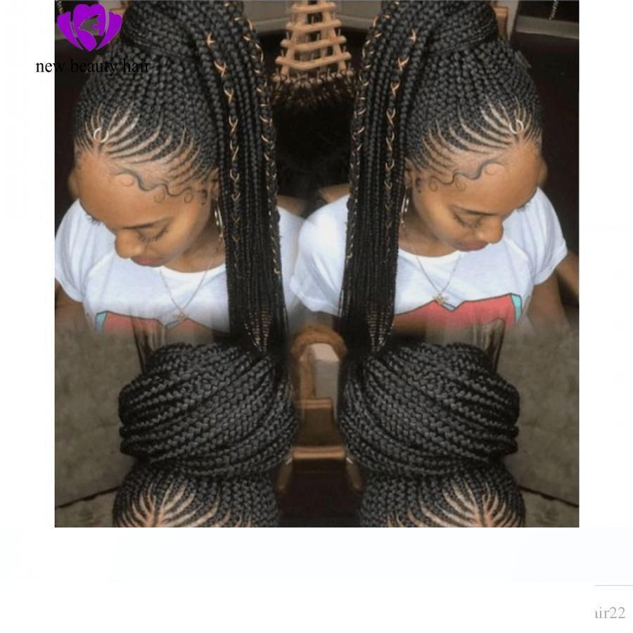 Designer Natural Handtied Cornrow Braids Wig Wigs Black Hairstyle