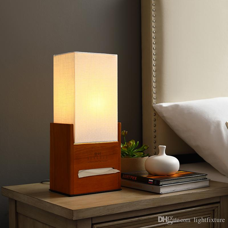 2020 Japanese Style Warm Small Bedside Lamp Bedroom Table Lamp Creative Simple Modern Study Desk Lamp With Paper Box From Lightfixture 59 72 Dhgate Com