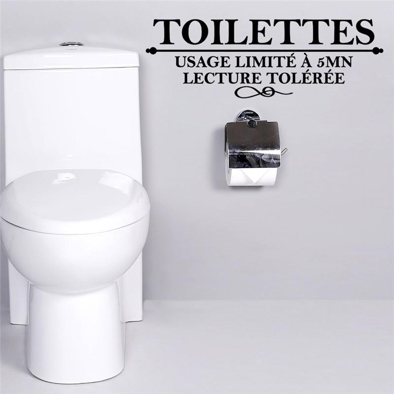 French Toilettes Toilet Wall Stickers Usage Limite A 5 Mn Lecture Toilettes Bathroom Wall Decals Art Poster Home Decoration Sticker Decorations For Walls Sticker For The Wall Decoration From Xiuping2 12 82 Dhgate Com