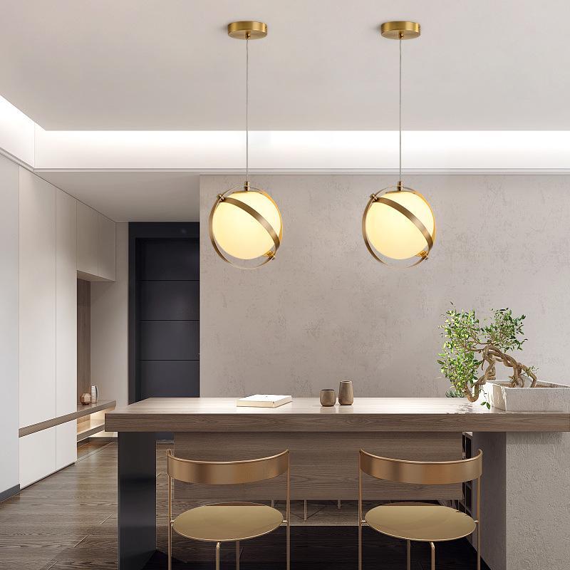 minimalist glass shade led lighting