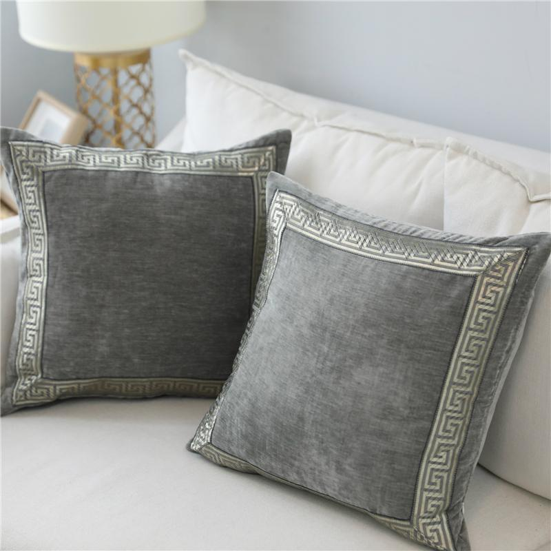soft velvet grey cushion cover home