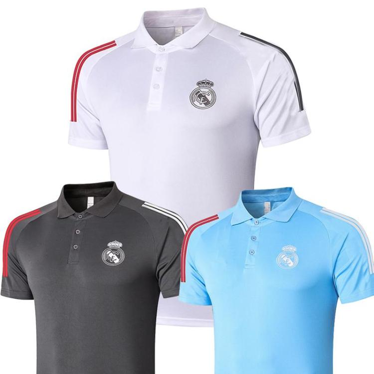2020 2021 Real Madrid Polo White Soccer Jersey 20 21 Real ...