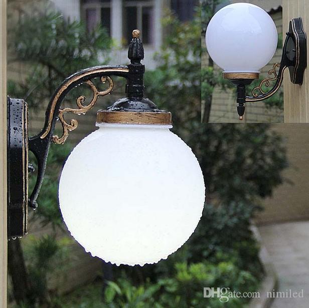 compre lampara de pared para exterior patio de jardin europeo impermeable balcon aplique de pared al aire libre llfa a 50 42 del nimiled