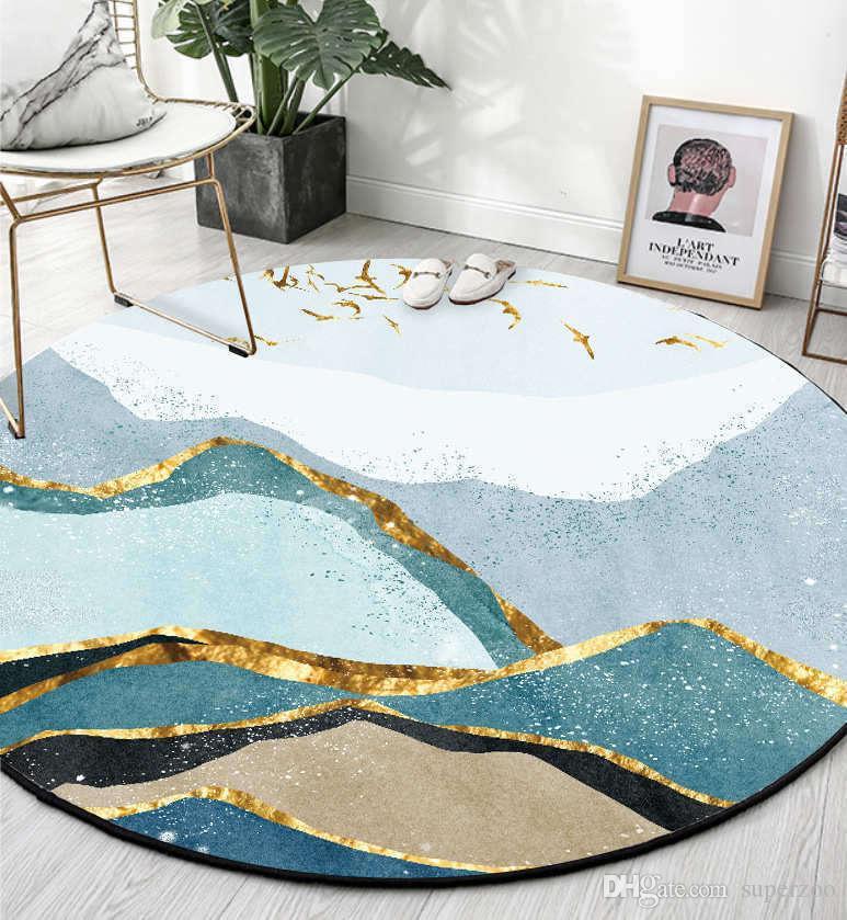 acheter tapis ronds pour salon chambre tapis nordique geometrique grand tapis tapis maison chaise ordinateur etage paillasson decoration 05 de 8 54