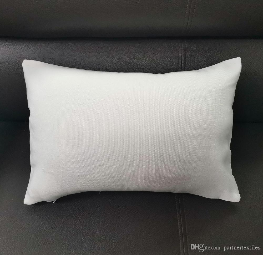 12x18 white polyester pillow cover 100