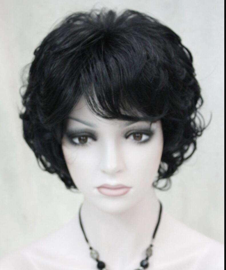 Wig Gt Gt Gt Fashion Black Short Curly Women Ladies Daily