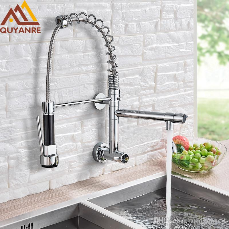 2021 wall mounted spring kitchen faucet