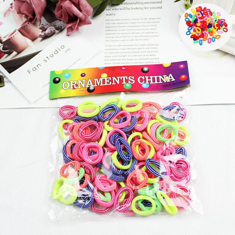 Kids Colorful Elastic Hair Bands Child Hair Holders Cute Rubber