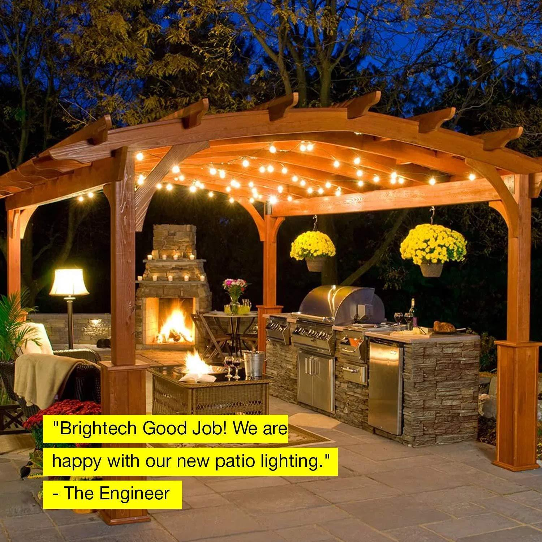 grosshandel wasserdichte led outdoor string licht suspendierbar dimmbar 2w vintage edison gluhbirne 48 ft commercial grade gartenlicht von allferr698