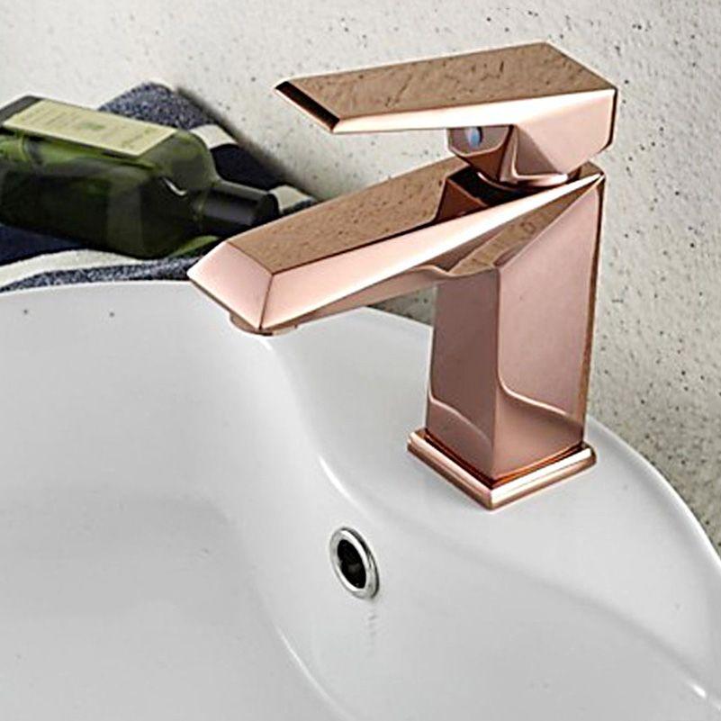 2021 rose gold bathroom faucet deck