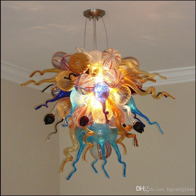 art glass pendant lights hand blown