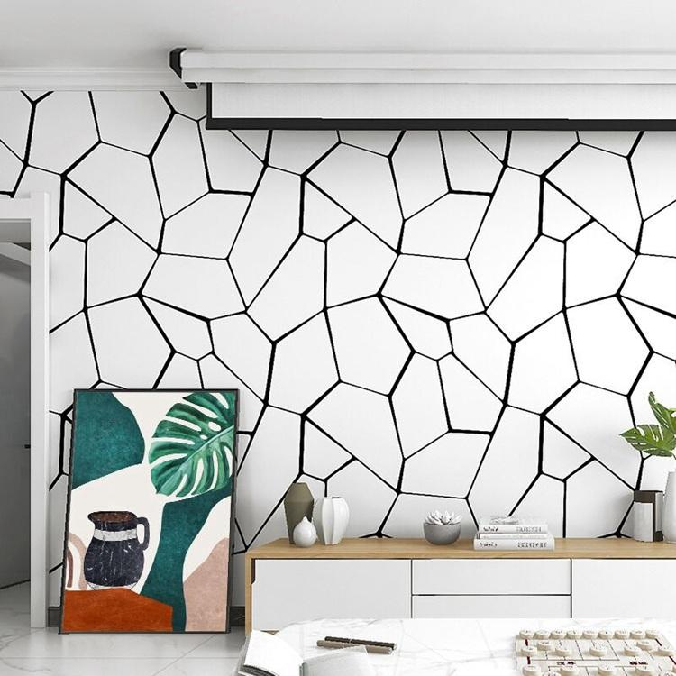 acheter nouvellement sorti style nordique papier peint motif geometrique noir blanc 3d papier stereo mur vinyle pvc moderne et minimaliste de 18 49
