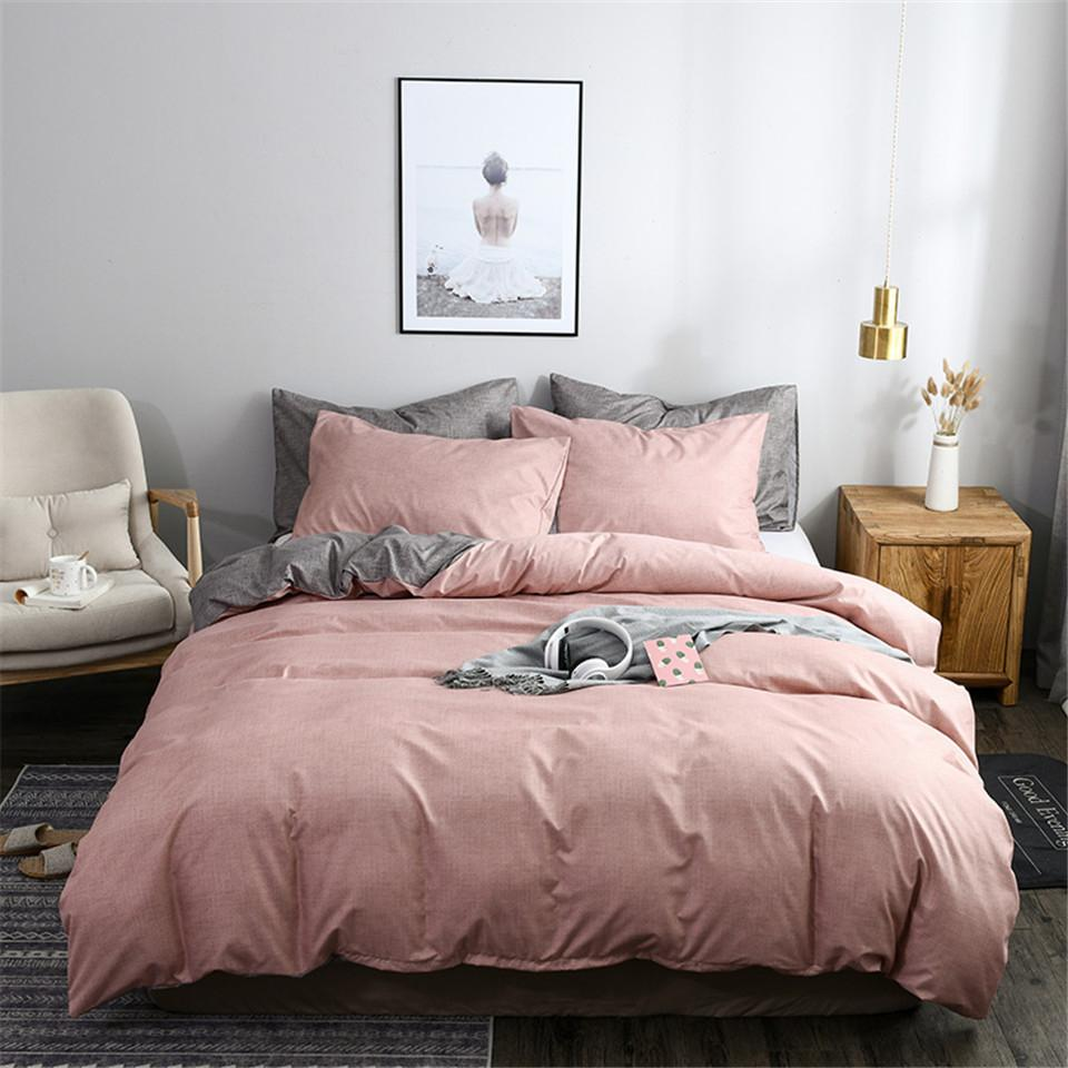 duvet cover sets pink and grey ab side