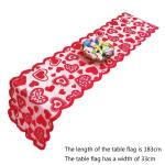 33x183cm Heart Pattern Table Runner Table Cover For Rustic Valentines Day Wedding Banquet Christmas Party Decor Home Textiles Turquoise Table Runner