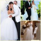 Kim Kardashian Sweetheart Strapless Wedding Dress 2015
