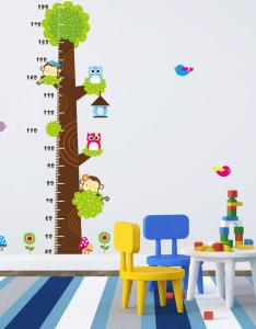Animals height chart decal children   room baby nursery cartoon sticker wall art stickers for office sale from flylife also rh dhgate