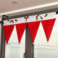 Christmas Santa Hat Window Valance 36 * 16.5 Great ...