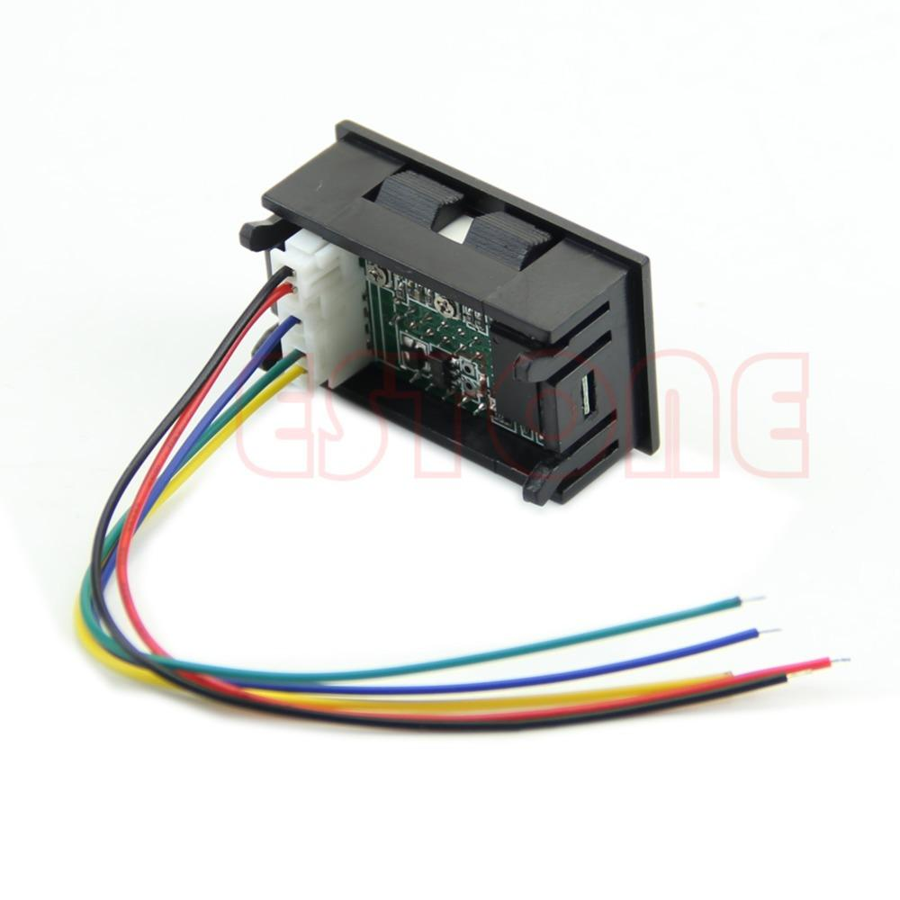 hight resolution of dual led digital voltmeter ammeter amp volt meter current shunt dc 100v 50a order