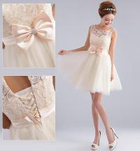 Simple 2015 Ivory Red Short Junior Bridesmaid Dresses Lace ...