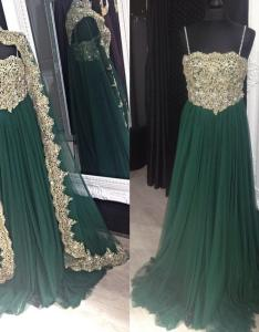 Emerald green muslim evening dresses for women gold appliques crystals moroccan kaftan turkish islamic prom gowns plus size dress lace also rh dhgate
