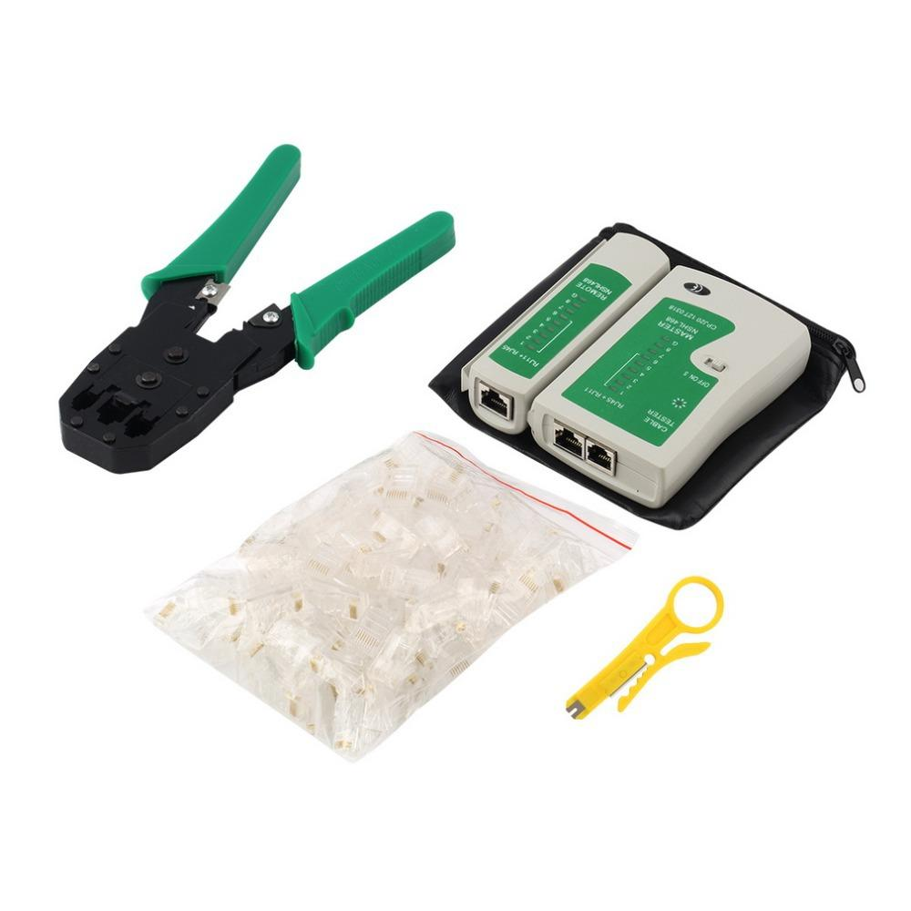 medium resolution of portable ethernet network cable tester tools kits rj45 crimping crimper stripper punch down rj11 cat5 cat6 wire line detector network stress tool network