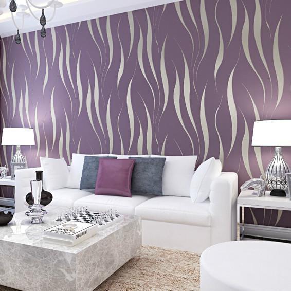 Purple and grey living room wallpaper for Modern bedroom wallpaper