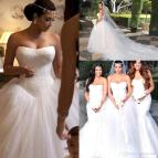 2017 Hot Fashion White Kim Kardashian Wedding Dresses Sexy