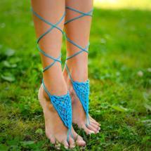 Cyber Monday Aqua Barefoot Sandal Turquoise
